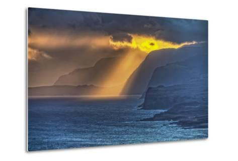 Sunrise Along Highest Sea Cliffs in the World on the North Shore of Molokai Island-Richard Cooke-Metal Print