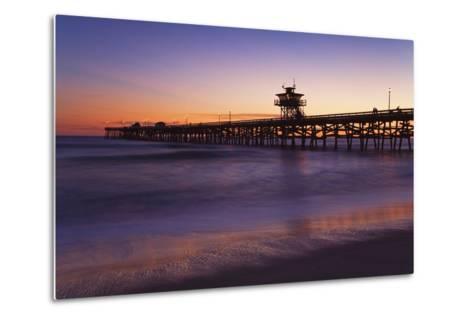 Municipal Pier at Sunset; San Clemente, California, USA-Design Pics Inc-Metal Print