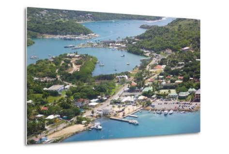 View of Falmouth Harbour-Frank Fell-Metal Print
