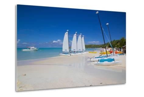 Beach, Dickenson Bay, St. Georges, Antigua, Leeward Islands-Frank Fell-Metal Print