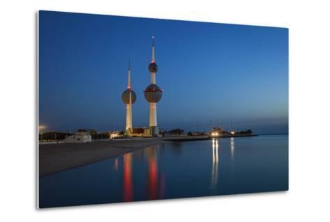 Kuwait Towers at Dawn, Kuwait City, Kuwait, Middle East-Jane Sweeney-Metal Print