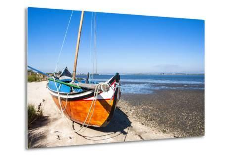Colorful Boats on the Beach, Torreira, Aveiro, Beira, Portugal, Europe-G and M Therin-Weise-Metal Print