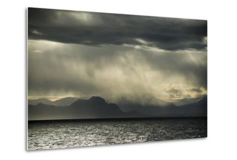 Dramatic Weather at the Fjord of Kangerlussuaq-Michael Melford-Metal Print