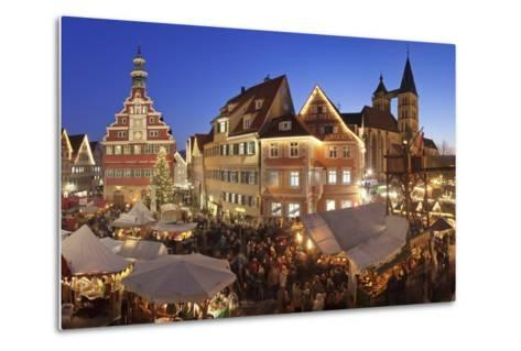 Christmas Fair at the Marketplace-Markus Lange-Metal Print
