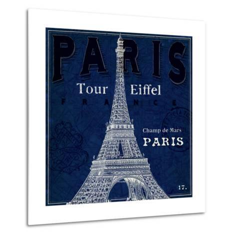 Blueprint Tour Eiffel-Sue Schlabach-Metal Print