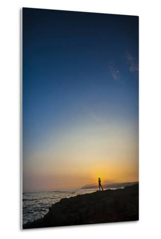 Sunrise over Kaiehu Point with the Rest of Molokai in the Distance-Richard Cooke-Metal Print