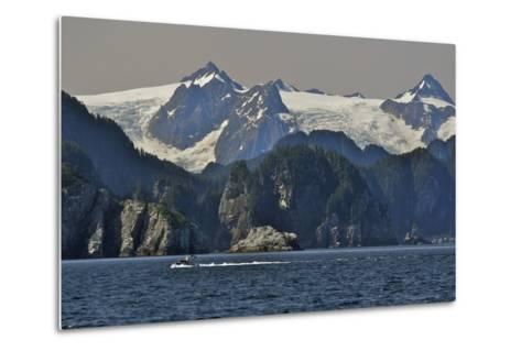 Kenai Fjords Tour Boat in Resurrection Bay Near Seward, Alaska During Summer-Design Pics Inc-Metal Print