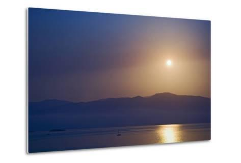 Sunset over Some of the Ionian Islands-Design Pics Inc-Metal Print