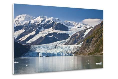 Scenic View of Stairway Glacier (R) Flowing into Surprise Glacier from Chugach Mountains-Design Pics Inc-Metal Print