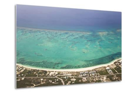 An Aerial View of Grace Bay and the Reef System of Providenciales Island-Mike Theiss-Metal Print