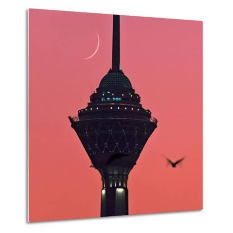 A New Moon Above the Milad Telecommunication Tower-Babak Tafreshi-Metal Print