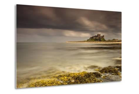Bamburgh Castle under a Cloudy Sky; Bamburgh Northumberland England-Design Pics Inc-Metal Print