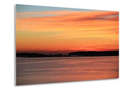 The Sun Rises over the Calendar Islands in Maine's Casco Bay-Robbie George-Metal Print