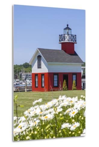 Old Lighthouse, on Lake Kalamazoo, Saugatuck, West Michigan, USA-Randa Bishop-Metal Print