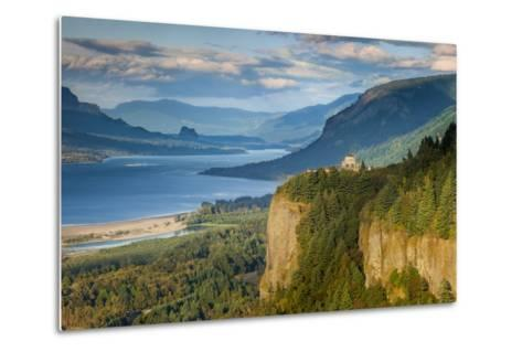 Overlooking the Vista House and the Columbia River Gorge, Oregon, USA-Brian Jannsen-Metal Print
