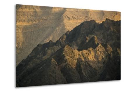 Craggy Coastline Off Oman-Michael Melford-Metal Print