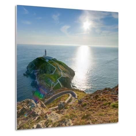 South Stack Lighthouse, Holy Island, Anglesey, Gwynedd, Wales, United Kingdom, Europe-Alan Copson-Metal Print