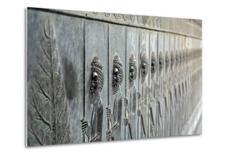 A Frieze Depicting the Persian Immortals, on the Eastern Stairs of Apadana Palace-Babak Tafreshi-Metal Print