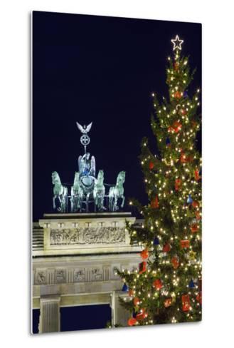 Christmas Tree and Brandenburg Gate-Jon Hicks-Metal Print
