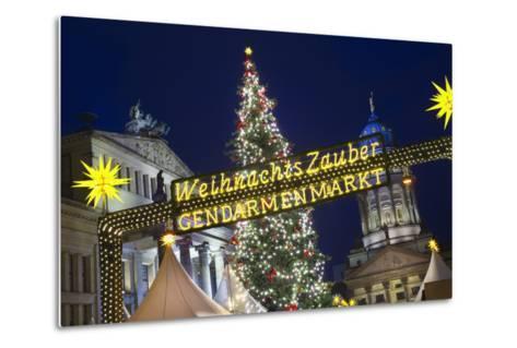 Lighted Sign at Gendarmenmarkt Christmas Market-Jon Hicks-Metal Print