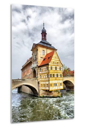 Town Hall on the Bridge, Bamberg, Germany-Zoom-zoom-Metal Print