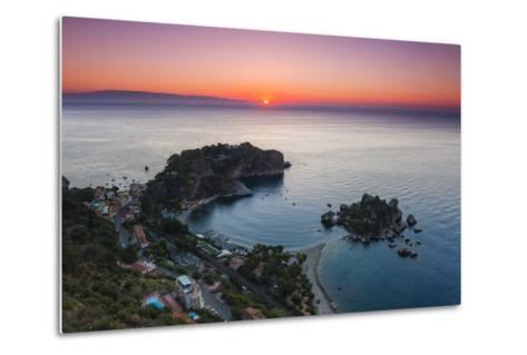 Isola Bella Beach and Isola Bella Island at Sunrise-Matthew Williams-Ellis-Metal Print