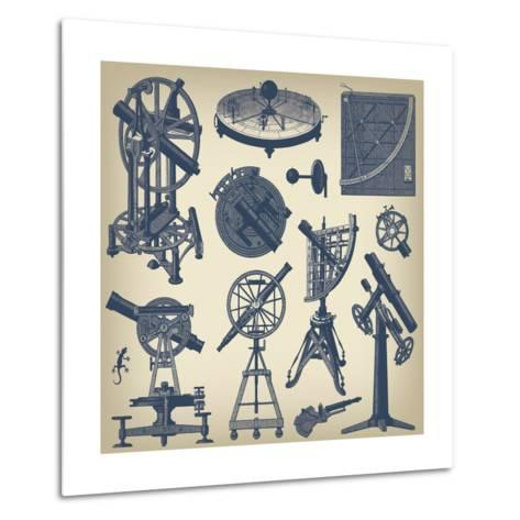 Astronomical Instruments--Metal Print
