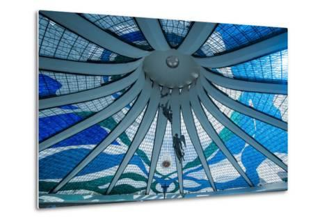 Stained Glass in the Metropolitan Cathedral of Brasilia-Michael Runkel-Metal Print
