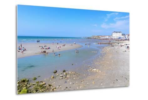 Wimereux Beach, Cote D'Opale, Region Nord-Pas De Calais, France, Europe-Gabrielle and Michel Therin-Weise-Metal Print
