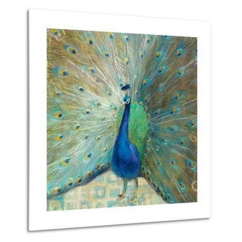 Blue Peacock on Gold-Danhui Nai-Metal Print