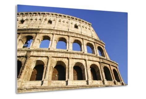 The Colosseum and Blue Sky, Close Up-Design Pics Inc-Metal Print