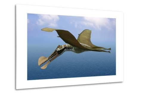 Tropeognathus Mesembrinus, a Large Pterosaur from the Late Cretaceous Period--Metal Print