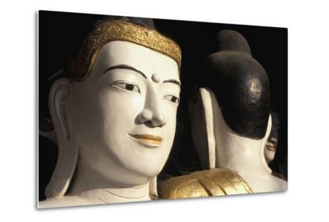 Buddhas at Shwedagon Paya, Close Up-Design Pics Inc-Metal Print