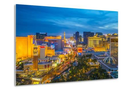 The Strip, Las Vegas, Nevada, United States of America, North America-Alan Copson-Metal Print
