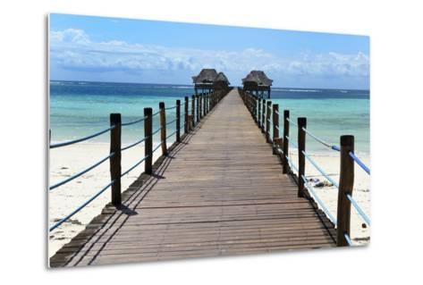 Hotel Jetty, Bwejuu Beach, Zanzibar, Tanzania, Indian Ocean, East Africa, Africa-Peter Richardson-Metal Print