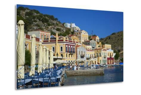 Gialos Harbour, Symi, Dodecanese, Greek Islands, Greece, Europe--Metal Print
