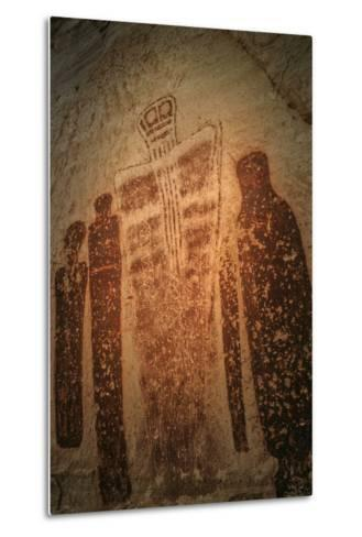 Barrier Canyon Style Pictographs in Horseshoe, Canyonlands National Park-David Hiser-Metal Print