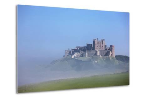 Bamburgh Castle in the Fog; Bamburgh Northumberland England-Design Pics Inc-Metal Print