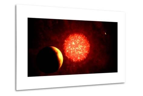 View from Pluto If Our Sun Were Replaced by Vy Canis Majoris--Metal Print