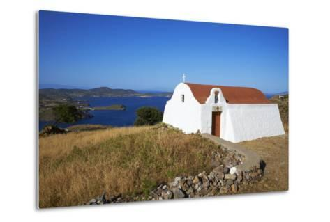 Small Church, Patmos, Dodecanese, Greek Islands, Greece, Europe--Metal Print