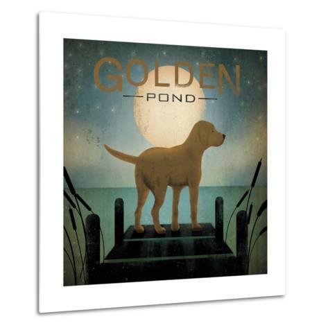 Moonrise Yellow Dog-Ryan Fowler-Metal Print