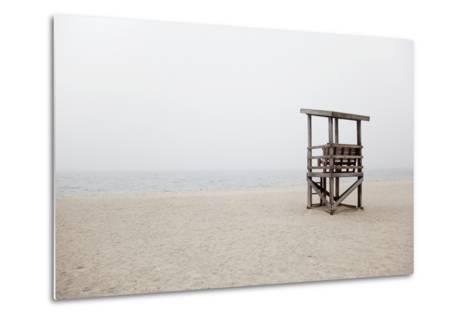 New England, Massachusetts, Cape Cod, Abandoned Lifeguard Station on Beach-Design Pics Inc-Metal Print