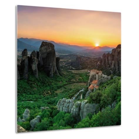 Historic Monasteries Built into Sandstone Pillars Overlook a Valley-Babak Tafreshi-Metal Print