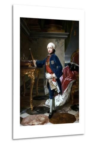 Portrait of Ferdinand I of the Two Sicilies--Metal Print