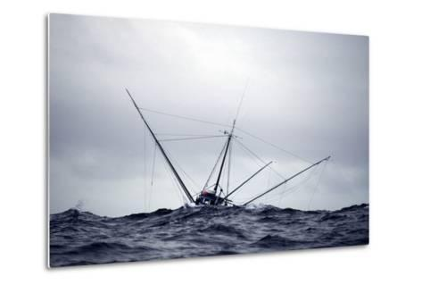 Salmon Troller Fishes in Stormy Seas During Summer in the Gulf of Alaska-Design Pics Inc-Metal Print