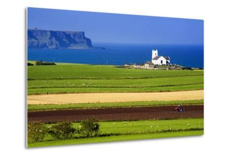 Church at Ballintoy on the North Coast of Northern Ireland-Chris Hill-Metal Print