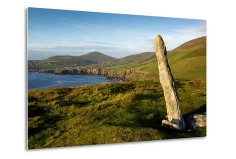 Standing Stone at Dunmore Head, Dingle, Co. Kerry, Ireland-Chris Hill-Metal Print