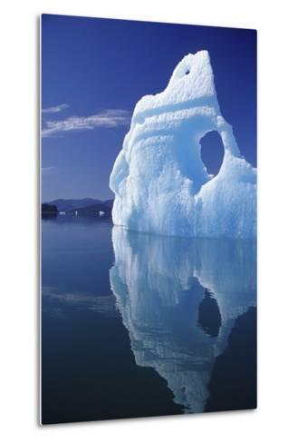 Huge Iceberg with Hole, Leconte Bay, Southeast, Alaska-Design Pics Inc-Metal Print