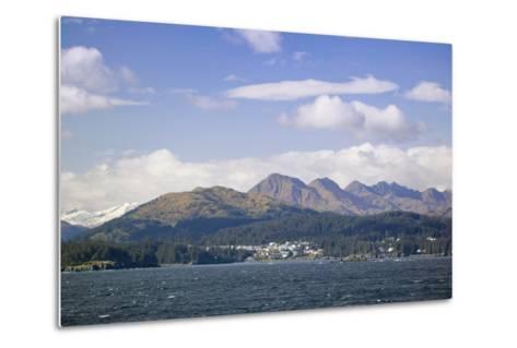 City of Kodiak on Monashka Bay Kodiak Island Gulf of Alaska Southwest Alaska Autumn-Design Pics Inc-Metal Print