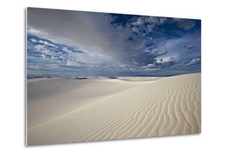 Summer Monsoon Clouds over White Dunes in White Sands National Monument-Derek Von Briesen-Metal Print